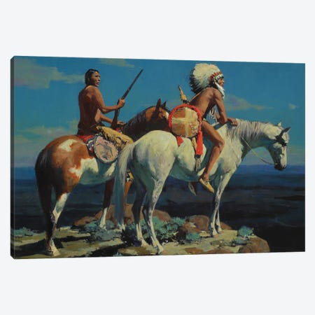 High Plains Moon Canvas Print #MNN20} by David Mann Canvas Print