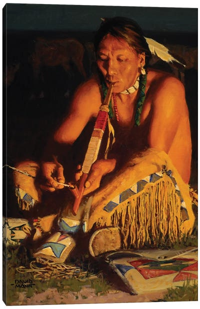 Kiowa Smoke Canvas Art Print