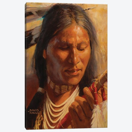 Lakota Spear Canvas Print #MNN25} by David Mann Canvas Wall Art