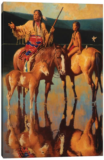 Lakota Sundown Canvas Art Print