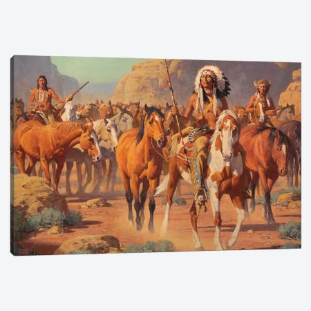 Lost Canyon Canvas Print #MNN29} by David Mann Canvas Art Print