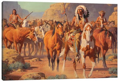 Lost Canyon Canvas Art Print