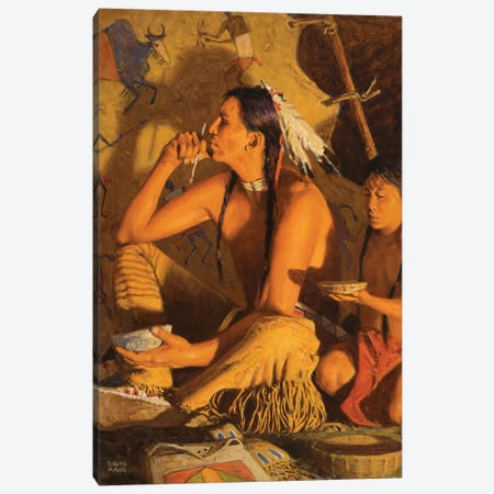 Moment Of Courage Canvas Print #MNN32} by David Mann Canvas Art
