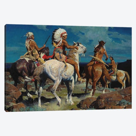 Moon Over High Mesa Canvas Print #MNN34} by David Mann Canvas Print