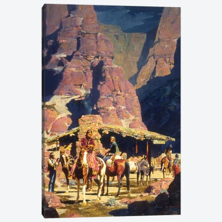 Night Trade At Red Rock Canvas Print #MNN37} by David Mann Canvas Art Print