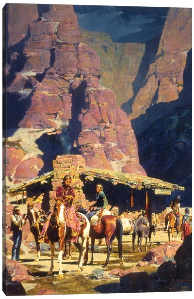 Night Trade At Red Rock Canvas Art Print