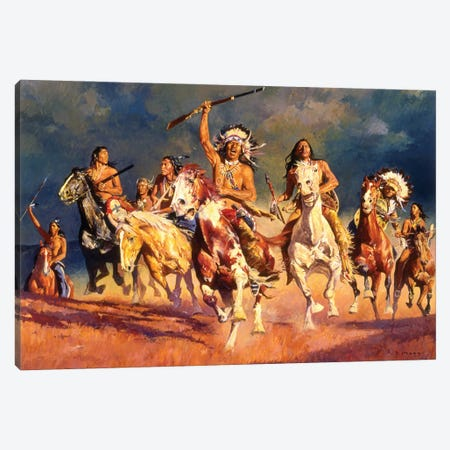 Opening The Fight Canvas Print #MNN38} by David Mann Canvas Wall Art