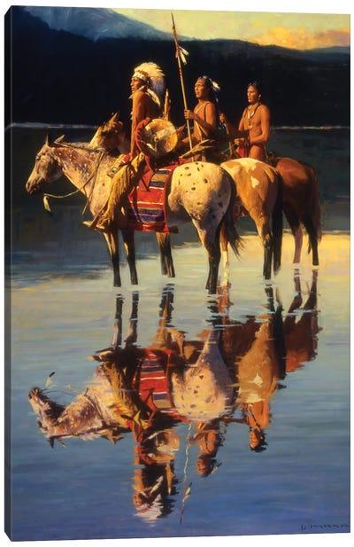 Peace On Blue Lake Canvas Art Print