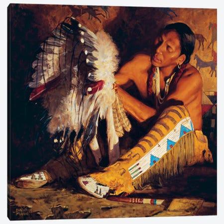 Red Feathers Canvas Print #MNN44} by David Mann Canvas Artwork