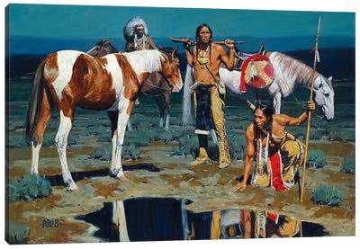 Shod Horses And Boot Prints Canvas Art Print