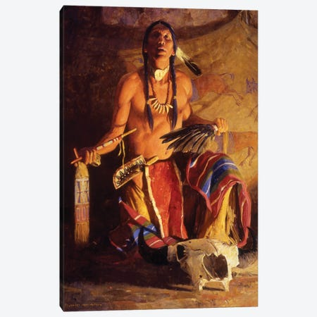 Song Of The Buffalo Canvas Print #MNN51} by David Mann Canvas Wall Art
