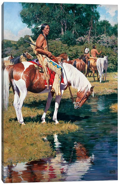 The Pony Guard Canvas Art Print