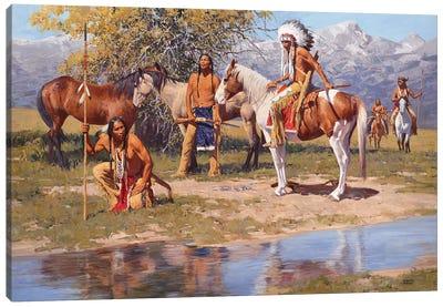 The Still Warm Camp Canvas Art Print