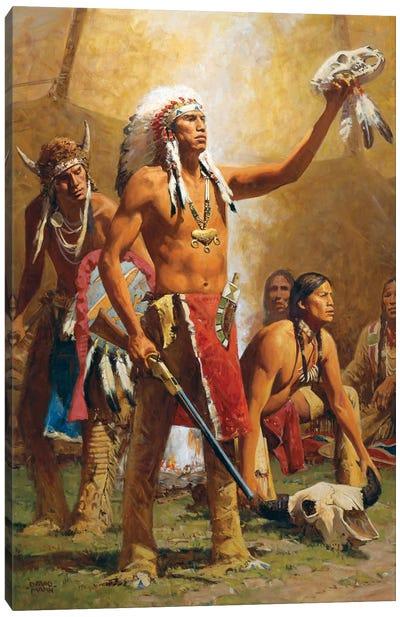 Thunderbird, Bear, And Buffalo Canvas Art Print