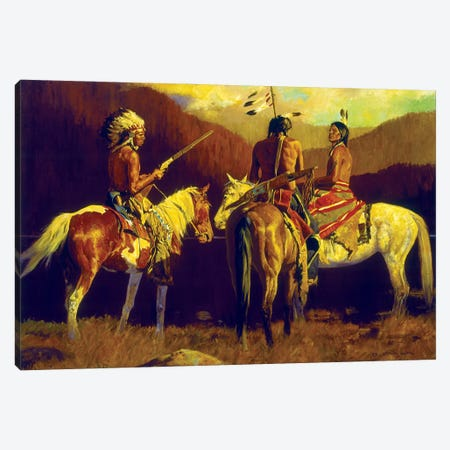 Warrior's Autumn Canvas Print #MNN71} by David Mann Canvas Art