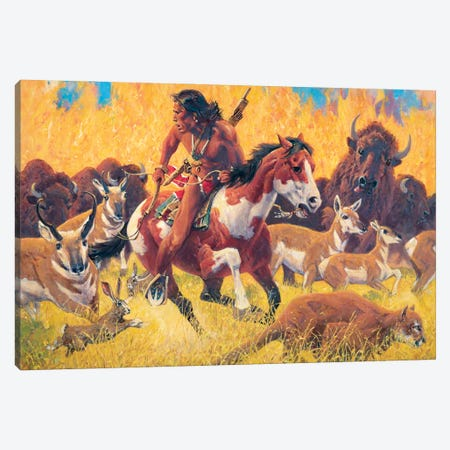 Wildfire Canvas Print #MNN76} by David Mann Canvas Print