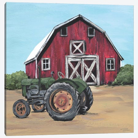 Park It In The Barnyard Canvas Print #MNO104} by Michele Norman Canvas Art
