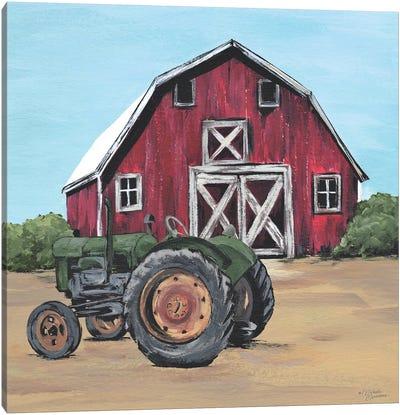Park It In The Barnyard Canvas Art Print