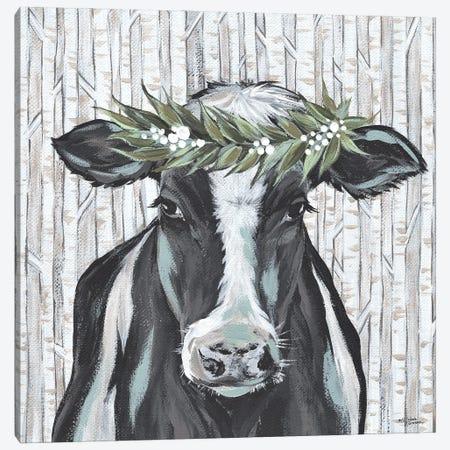 Wanda The Winter Holstein Canvas Print #MNO105} by Michele Norman Canvas Art