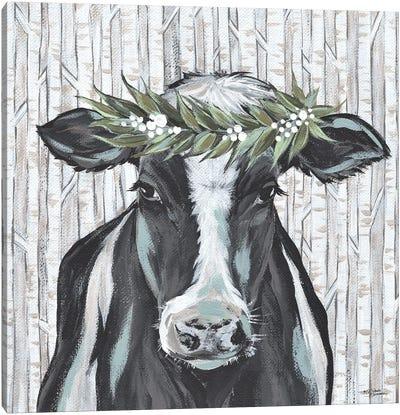 Wanda The Winter Holstein Canvas Art Print