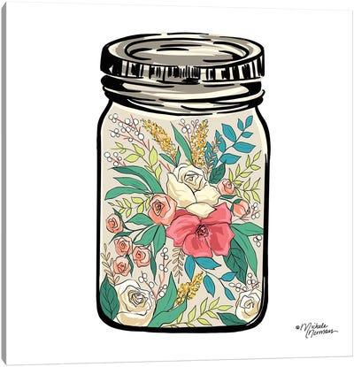 Floral Jar Canvas Art Print