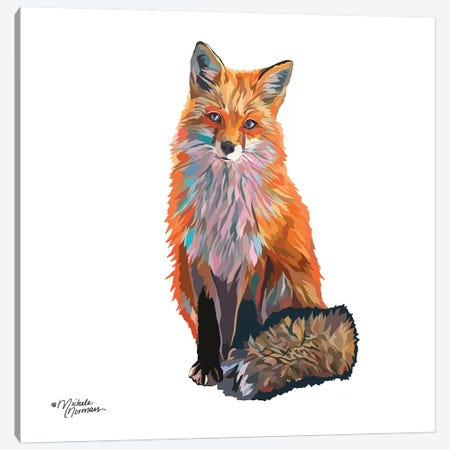 Fox Canvas Print #MNO28} by Michele Norman Canvas Art