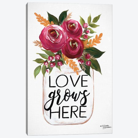 Love Grows Here Canvas Print #MNO2} by Michele Norman Art Print