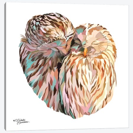 Owls 3-Piece Canvas #MNO34} by Michele Norman Canvas Wall Art