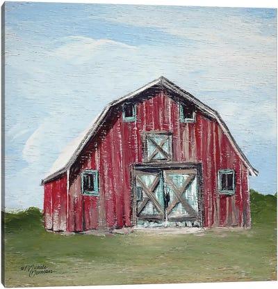 Red Barn Canvas Art Print