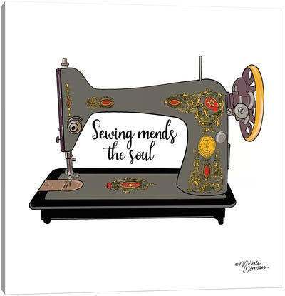Sewing Mends the Soul Canvas Art Print