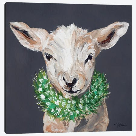 Spring Lamb Canvas Print #MNO37} by Michele Norman Canvas Wall Art