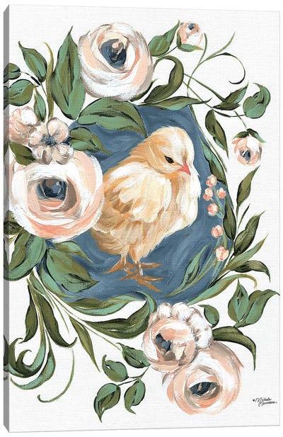 Vintage Frame Chick Canvas Art Print