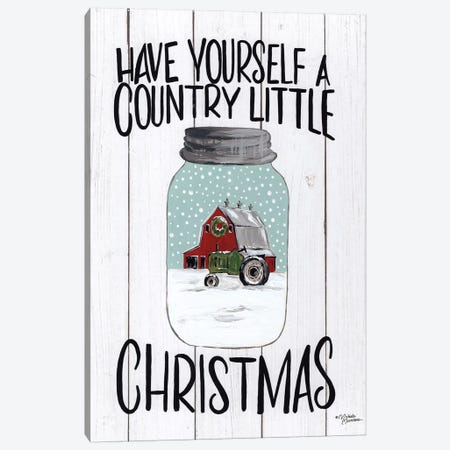 Have Yourself a Country Little Christmas Canvas Print #MNO46} by Michele Norman Canvas Art Print