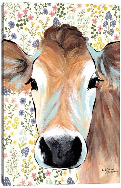 Bluebell Cow Canvas Art Print