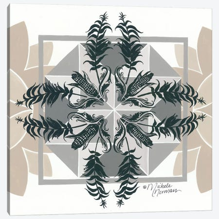 Cornfields & Sunflowers     Canvas Print #MNO51} by Michele Norman Canvas Art Print