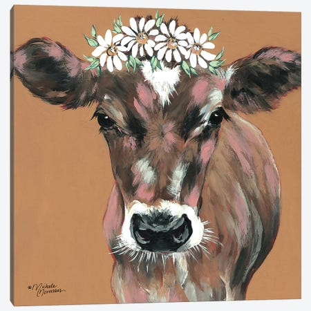 Daisy Canvas Print #MNO52} by Michele Norman Canvas Print