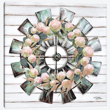 Farmhouse Florals Canvas Print #MNO53} by Michele Norman Art Print