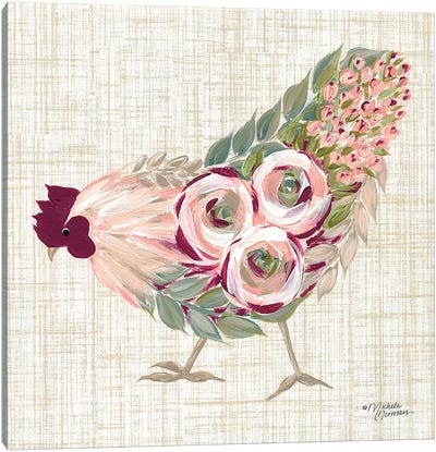 Botanical Rooster II Canvas Art Print