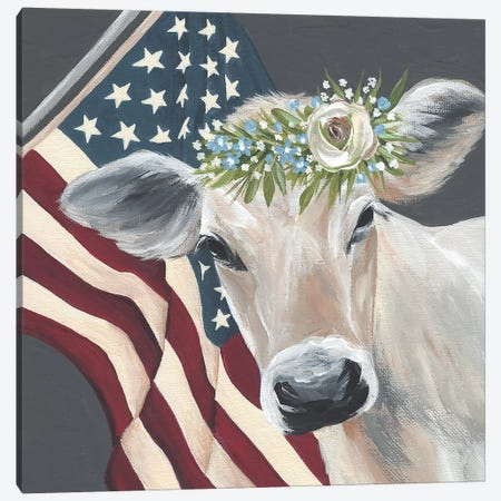 Patriotic Cow 3-Piece Canvas #MNO61} by Michele Norman Canvas Art