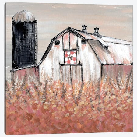 Simset Fields Canvas Print #MNO65} by Michele Norman Canvas Art Print