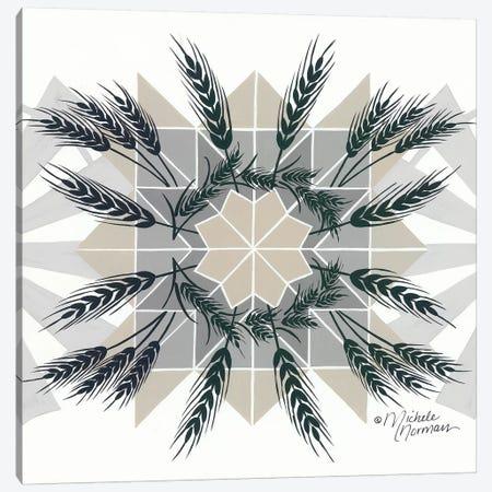 Wheat & Windmill    Canvas Print #MNO68} by Michele Norman Canvas Art
