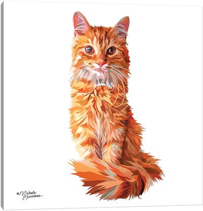 Cat Canvas Art Print