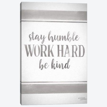 Work Hard Canvas Print #MNO70} by Michele Norman Art Print