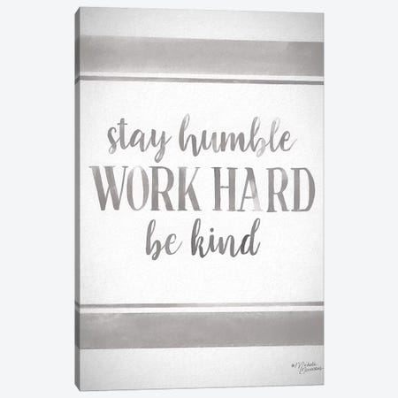 Work Hard Canvas Print #MNO70} by Michele Norman Art Print
