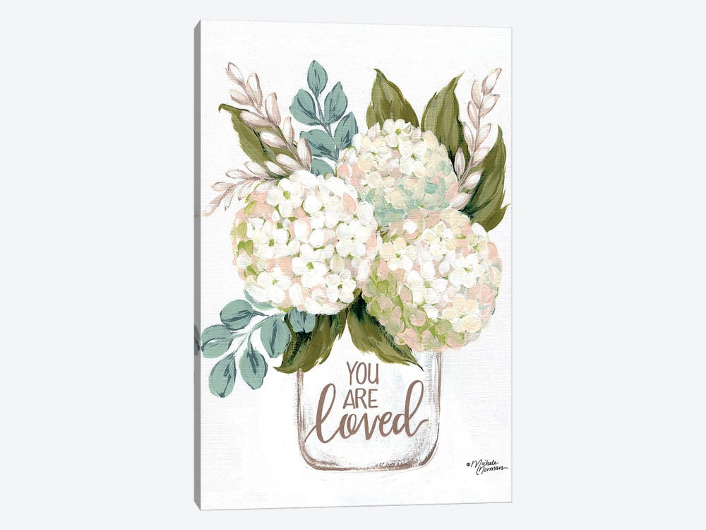 You Are Loved Flowers by Michele Norman 1-piece Canvas Wall Art