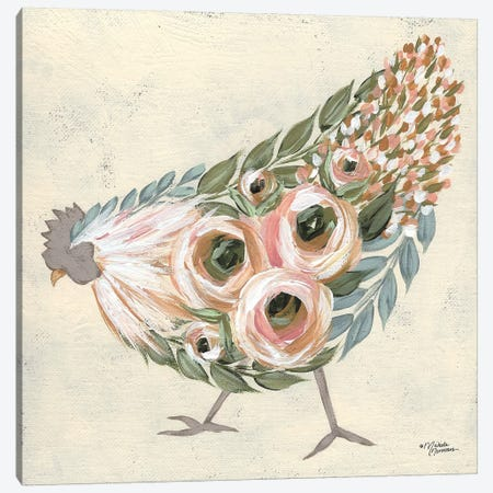 Astrid The Hen Canvas Print #MNO78} by Michele Norman Canvas Print