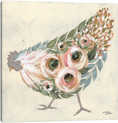 Astrid The Hen Canvas Art Print