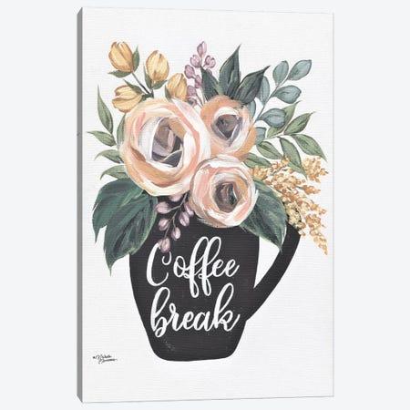 Coffee Break Canvas Print #MNO80} by Michele Norman Canvas Art