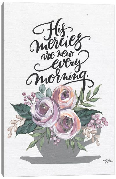 His Mercies Are New Every Morning Canvas Art Print