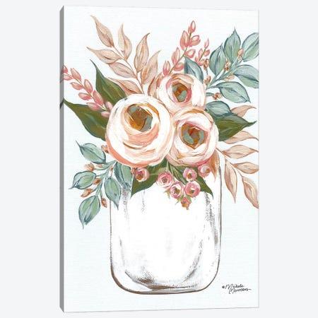 Floral Jar Canvas Print #MNO86} by Michele Norman Canvas Art Print